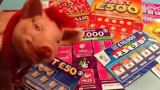 20x CASH Scratchcards & FAST 500..& 50..Payday..250.000 Pink..CASH WORD..Cash 777..Mill,7's