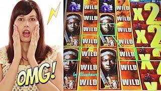 THE WALKING DEAD 2 slot machine 5 BONUS SYMBOLS and HUGE WIN
