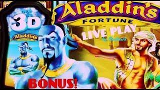 • COME ON WILDS! •  ALADDIN'S FORTUNE 3D slot machine LIVE PLAY with BONUS WINS! • mavikalp77
