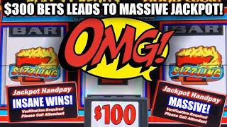 MUST SEE JACKPOTS ON SIZZLING 7 ⋆ Slots ⋆ HIGH LIMIT $300 MAX BET ⋆ Slots ⋆ MANY HANDPAYS