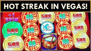 HOT STREAK!⋆ Slots ⋆ I WIN ON EVERY SLOT I PLAY! WYNNING in VEGAS! CLEOPATRA 2, DANCING DRUMS $8.80 BET!
