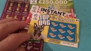 BIG..Monday Scratchcard game..New Green £200,000 cards..Instant Millionaire..£20,000 Green..Top Dog.