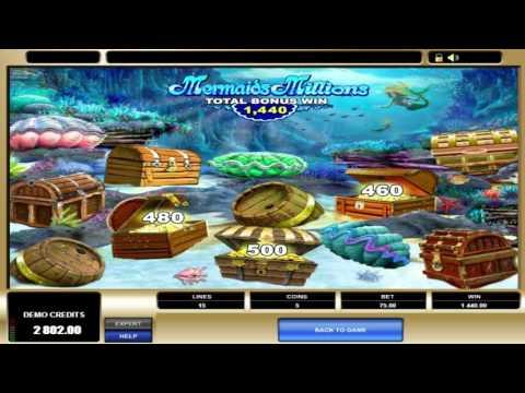 Free Mermaids Millions slot machine by Microgaming gameplay ★ SlotsUp