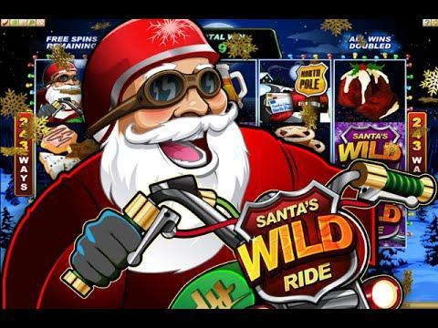 Free Santa's Wild Ride slot machine by Microgaming gameplay ★ SlotsUp