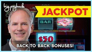 $100/SPIN BONUS, WOW!!! Double Top Dollar Slot - JACKPOT HANDPAY!