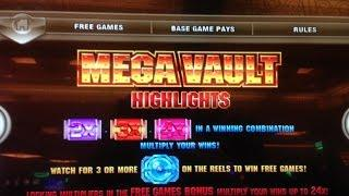 •MEGA VAULT Slot machine (IGT) • SUPER BIG WIN BONUS! •$2.00 Bet x 207