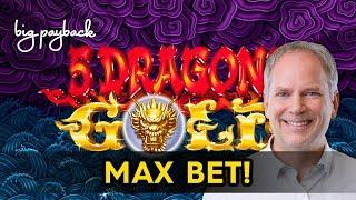 5 Dragons Gold Slot - MAX BET BONUS!