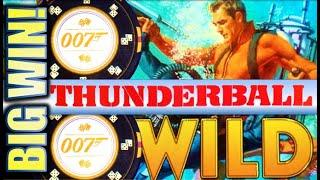 •THUNDERBALL BIG WIN RUN!• $5.40 MAX BET! JAMES BOND 007 Slot Machine Bonus (SG)