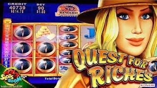 Quest For Riches BIG BONUS!!! Konami 2c Slot in San Manuel Casino