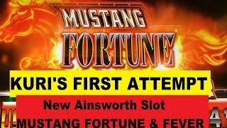 •FIRST ATTEMPT ! New Ainsworth Slot•Mustang Fortune & Mustang Fever•3 Bonus Games $2.50 Max bet