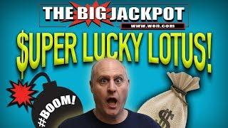 WOW! • 2 LUCKY JACKPOT$ • SUPER LUCKY LOTUS PAY$ OUT BIG!