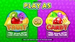 Fruit Vs Candy Slot Features and Game Play - by Microgaming