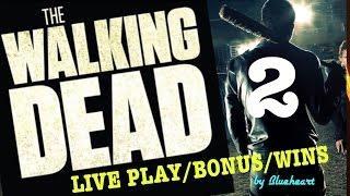 The WALKING DEAD 2 slot machine LIVE PLAY/ BONUS/FEATURES WINS!