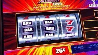 Aftershock slot - MAX bet bonus round - 25c denom - Slot Machine Bonus
