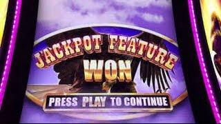 Aristocrat Buffalo Grand Jackpot Feature with Multiplier Free Spin bonus BIG WIN