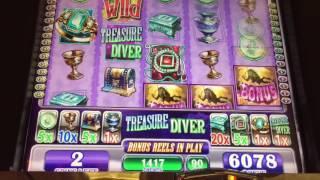 WMS Treasure Diver Slot Bonus *NICE WIN*