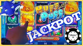 ★ Slots ★HIGH LIMIT Lock It Link Huff N' Puff JACKPOT HANDPAY ★ Slots ★$50 BONUS ROUND Slot Machine