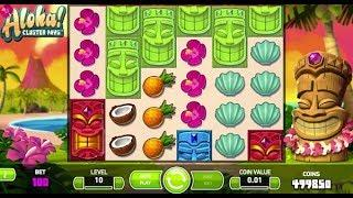 Aloha: Cluster Pays Online Slot from NetEnt - Free Spins, Sticky Win Re-Spin, Cluster Pays Feature!
