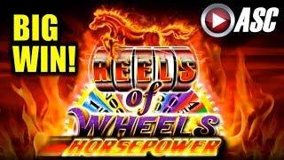 *BIG WIN* HORSEPOWER REELS OF WHEELS | AINSWORTH - Slot Machine Bonus