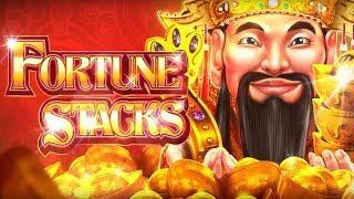 Fortune Stacks Slot - GREAT BONUS TRIGGER, NICE RETRIGGER TOO!