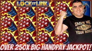 Eureka Lock It Link Slot Machine HANDPAY JACKPOT | Konami Slot Machine  MEGA JACKPOT -Live Slot Play