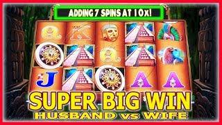 SUPER BIG WIN • HIGH LIMIT HUSBAND VS WIFE CHALLENGE • MONTEZUMA SLOT MACHINE
