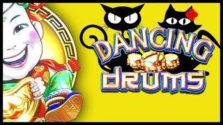 WHAT THE WHAT? BACK TO BACK BONUSES •  Dancing Drums ••• The Slot Cats •