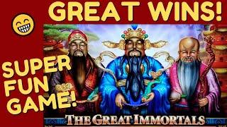 FIRST TIME BONUSES on MONEY LINK THE GREAT IMMORTALS SLOT MACHINE POKIE!