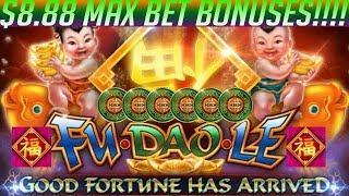 • MAX BET BONUS COMPILATION!! Fu Dao Le | River Dragons | Longhorn Slot Machine Jackpots •