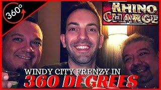 RHINO CHARGE in 360• • Special Guests: Windy City Frenzy • 360• Slot Machine Pokies EVERY Tuesday!