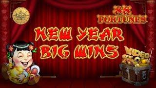 $$ Huge Win $$ JACKPOT $$ - 88 fortunes - Slot Machine Bonus