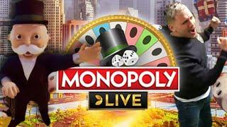 ROLLS WITH MULTIPLIER!! MONOPOLY LIVE BIG WIN - GAME SHOW FROM EVO GAMING FROM CASINODADDY STREAM