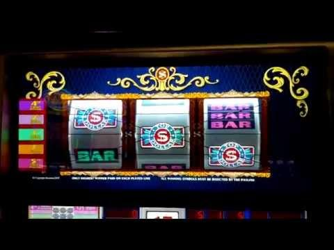 Top Dollar Slot Machine - $25 Bet- 5 Line Version with Bonus Game!