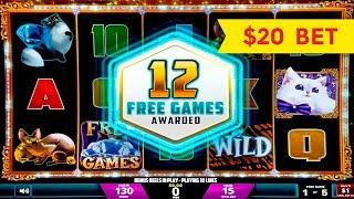 Fortune Link Feline Fortune Slot - $10 | $15 | $20 Bets - HIGH LIMIT ACTION!