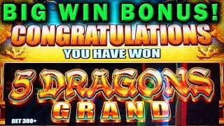PLAYING THE GRAND • 5 DRAGONS & BUFFALO GRAND • BIG WIN BONUS • Las Vegas Casino