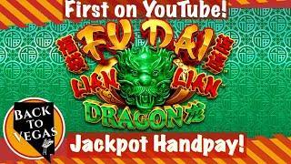 • JACKPOT HANDPAY! First on YouTube for Fu Dai Lian Lian Dragon! Huge Bonus Wins! •