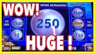 HUGE WINS on High Limit Magic Pearl Lightning Link - Over 100x Bonus !