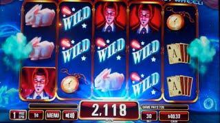 Fortuno the Great Slot Machine Bonus + Wheel Spin - 8 Free Games w/ Popping Wilds, Nice Win