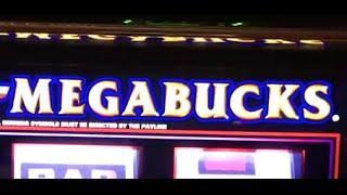 MEGABUCKS 3X4X5X Double Times Pay •LIVE PLAY• Slot Machine Pokie at Caesars, Las Vegas
