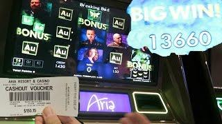ARIA Las Vegas Breaking Bad Slot Machine FULL BONUS BIG WIN!!!