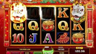 Dancing Lions slot - 137 win!