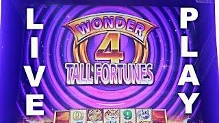 SUPER FREE GAMES OR BUST! - WONDER 4 TALL FORTUNES BUFFALO GOLD Live Play & Bonus