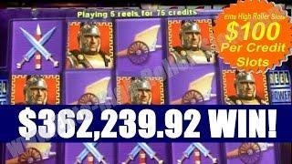 •1 Spin $362,239 Thousand Dollar Win! Pompeii $100 Slot Handpay Jackpot! High Stakes Vegas Casino •