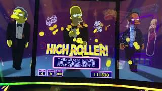 JACKPOT HANDPAY on THE SIMPSONS!  Lots of slot machine bonuses and BIG WINS!