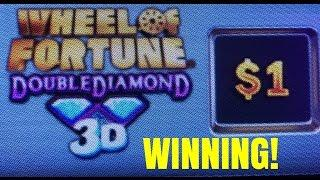 $1 WHEEL OF FORTUNE 3D SLOT MACHINE- LIVE PLAY