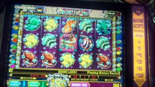 IGT Mystical Mermaids .25 denom high limit  Free spin bonus slot machine