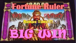 ~FAB FRIDAY~ *BIG WIN*   WMS Fortune Ruler   Max Bet Line Hit & Slot Machine Bonus