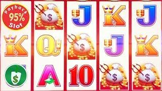 Wicked Winnings II 95% payback slot machine, 2 sessions
