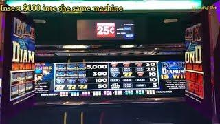"""Black Diamond""  I try to until get Progressive Bonus !! Quarter Slot Machine, San Manuel Casino"