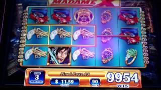 Madame X WMS Slot Machine BIG WIN Free Spin Bonus